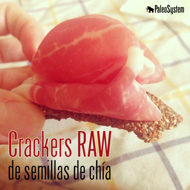 Crackers RAW de semillas de Chía